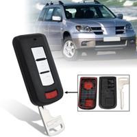 botón remoto del coche mitsubishi al por mayor-Nuevo 4 botones Car Remote Fob Shell Case para Mitsubishi Lancer Outlander 2008 2009 2010 2011 2012 2013 2014 2015 2016