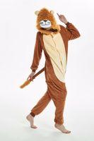 Wholesale tiger costume women online - new lion tiger Adult Pyjamas Cosplay costume Onesie Sleepwear Homewear Unisex Pajamas Party Clothing Women Man child