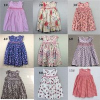 Wholesale Girls New Years Dress - New Arrival Children Cute Flower Dresses Lovely Baby Girls Dresses Casual Party Dresses Bohemian Princess For 3-7 Years Fast Shipping