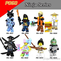 Wholesale mini ninjas - 120pcs Mix Lot Ninja Series Minifig Garmadon Sensei Wu NYA Shark Person New Fashion Girl Kai Jay Cole PG8073 Mini Building Blocks Figures
