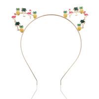 Wholesale silver butterfly headband - Cat Ears Crown Tiara Headbands for Women Hair colorful Rhinestone Princess Hollow Hairband Cat's ears Bezel cute butterfly Hair Accessories