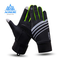 Wholesale Gym Fitness Gloves Wholesale - AONIJIE 2017 Touch screen Sports Running Gloves Men Women Outdoor Warm Windproof Multi-function Gym Fitness Gloves for Jogging