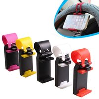Wholesale Universal Phone Holder For Bike - Universal Car Streeling Steering Wheel Cradle Holder SMART Clip Car Bike Mount for Mobile iphone samsung Cell Phone GPS OTH203