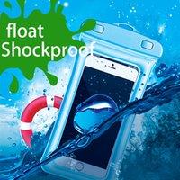 Wholesale Underwater Blue Lights - Mobile Phone Waterproof Bag Water Resistant Wallet Shockproof Underwater Diving full Cover Bag Case For iphone X iphone 6 iphone 8 7 plus