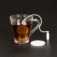 buzo de té al por mayor-Silicone Tea Leaf Infuser Diver Loose Strainer Bag Scuba Tetera Colador Diving Filter Difusor Bolsa Filtros de Cocina Herramientas 6 9 ufgg