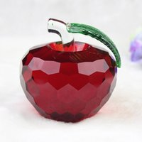 Wholesale crystal for sales for sale - Fashion Crystal Apple Crafts Seven Colors Hand Made Ornament For Christmas Eve Party Gifts Supplies Hot Sale jl BB