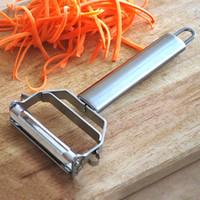 картофельный овощной очиститель оптовых-Transhome из нержавеющей стали 360 градусов Жульен овощечистка фрукты растительное измельчитель Slicer строгания резак картофель морковь терка кухня инструмент