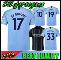 Wholesale man city soccer jerseys - 18 19 sane soccer Jersey 2018 2019 City Adult kids DZEKO KUN AGUERO KOMPANY TOURE YAYA DE BRUYNE G JESUS BERNARDO Shirt