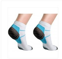 Wholesale Pain Socks - Unisex Compression Socks Men Anti-Fatigue Plantar Fasciitis Heel Spurs Pain Sport Running Short Ankle Sock For Men Women