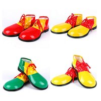 Wholesale anime shoes men online - Halloween Cosplay Clown Shoes Funny Stephen King Anime Shoes Man Woman Funny Big Head Shoes Party Cosplay Supplies OOA5744