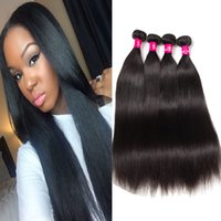 Wholesale malaysia human hair body weave - 8A Brazilian Virgin Hair Body Wave Straight Extensions Natural Color Peruvian Malaysia Indian Virgin Hair Bundles Body Wave Human Hair Weave
