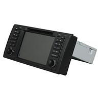 dvd radio gps coche bmw al por mayor-Reproductor de DVD para BMW E39 M5 7 pulgadas Octa core Andriod 8.0 con GPS, control del volante, Bluetooth, radio