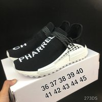 Wholesale Racing Sun - 2018 NMD Trail Human Race HU Pharrell NERD Black White Running Shoes Sneakers With Box Sun Glow Pale Nude Athletic Shoes