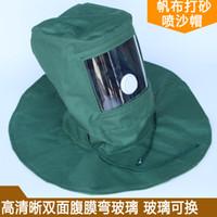 masque de matériau achat en gros de-Peinture Masque de protection Hotte anti-poussière Capuchon de protection anti-sablage