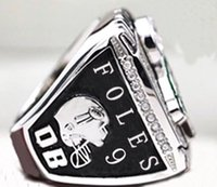 Wholesale High Eagle - PreSale Philadelphia 2017 2018 Eagle s World 52th Championship Ring Fan Gift high quality wholesale Drop Shipping Foles