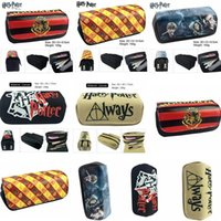 Wholesale harry potter fabric online - Harry potter Pencil Pen Bag wallet Cartoon Pencil Case Students Stationery Storage Bag School Office Supply Outdoor Bags T1I898