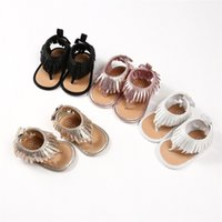 Wholesale 24m shoes for sale - Group buy Fashion Baby girl Sandals Kids Boots Shining Gold Tassels Gladiator shoes peep toe Black Gold Silver Pink Summer m M