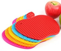 Wholesale glass coasters free shipping for sale - Group buy Silicone Apple Shape Coasters Pads Cushion Bowl Wine Glass Mug Placement Cup Mats
