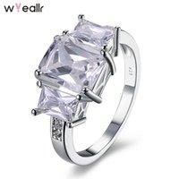 ingrosso anelli di nozze shinning-2018 Moda gioielli in argento sterling Sier Shinning Zircone Crown Charm Ring per le donne regalo di fidanzamento Accessori da sposa WSR100