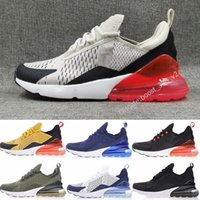 Wholesale high sole sneakers - 2018 Wholesale high quality Mens Triple Black 270 AH8050 Trainer Sports Shoes Womens sole 270 Sneakers