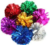 tezahürat el toptan satış-Pom Poms Amigo Tezahürat El Çiçek Topu Ponpon Noel Düğün Parti Festivali Dans Sahne Cheer Lider
