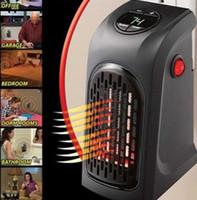 ingrosso riscaldatori a mano usb-Mini ventilatore riscaldante 400W portatile Spina Handy Heater Presa Stufa Elettrica Personal Ventilatore riscaldatore portatile Telecomando uso per l'home office LLFA