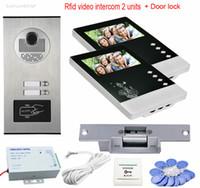 rfid kilidi sistemi toptan satış-Videofon 2 Monitörler 4.3
