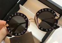 Wholesale black par - 2018 Designer Sunglasses For Women Round Frame With Bee Aviator Sunglasses LAVEUGLE PAR AMOUR Summer A+++ Eyewear