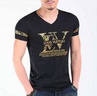 tonos de pantalla al por mayor-Mens Diseñador de Marca de Lujo Camisetas Hombre Verano Camisetas de Manga Corta Tops Hommes si Tun Brand Camisetas Imprimir Diseño Camisetas Para Hombre Ropa