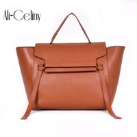 Wholesale new fashionable handbags resale online - 2 size Style NEW Fashion Catfish Wrap Leather Wing Shaped Smiling Face Pack Fashionable Shoulder Bag Crosses Handbag