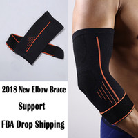 Wholesale pain treatment - Elbow Brace Compression Support Sleeve for Tendonitis Tennis Elbow Golf Elbow Treatment Reduce Joint Pain During Activity G444S