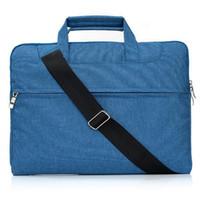 ingrosso cinghie da cartella-Borsa a tracolla Borsa per MacBook Air Pro 11.6 13 Borsa da 15.4 pollici Borsa a mano con cerniera Borsa da trasporto con cinghie rimovibili Antiurto