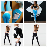 Wholesale Women Workout Clothes - Sportswear Yoga Pants Fitness Yoga Leggings Push Up Running Sport Tights Women Workout Yoga Clothing Activewear for Women black blue in stoc