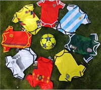 Wholesale christmas cups - 8 style 2018 Russia World Cup Baby kids football romper 100% cotton kids clothing summer sport romper Baby Jersey 6-18 Month