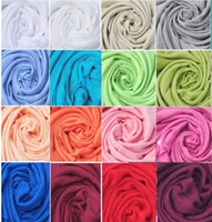 écharpes de couleur unie cachemire femmes achat en gros de-Livraison gratuite DHL gros 40 pcs Pashmina Cachemire Soie Solide Châle Wrap Unisexe Écharpe Femmes Écharpe Pure 40 Couleur Écharpe