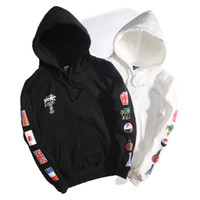 Wholesale black swag clothing for sale - Winter Autumn Clothes Mens Pullover Hoodies Designer Hoodies Men Flag Print Shirt Swag Style Hoodie Hip Hop Clothes