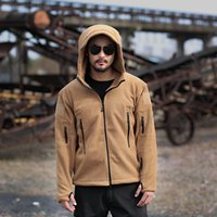 Wholesale polar jacket outdoor - Winter Hunting Tactical Polar Fleece Jacket Warm Army Tactical Jacket Men Thermal Outdoor men Polartec Softshell Jacket mk424