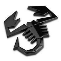 alfa romeo adesivos venda por atacado-Liga Nova Escorpião 3D Escudo Forma Etiqueta Do Emblema Do Carro Traseira Da Bagageira Emblema Traseiro para FIAT ABARTH TC Boano Simca Berlinetta Alfa Romeo