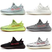 low priced 91f63 029cf Con scatola Adidas Originals Yeezy 350 V2 Boost Kanye West 2018 Scarpe da  corsa di alta qualità Zebra Bred Black Orange Stripes Sneakers Taglia 36-46