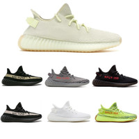 Wholesale frozen low shoes online - Beluga Sply V2 Butter Breds Semi Frozen Yellow Blue Tint Zebra Cream White Kanye West Running Shoes Sneakers