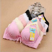 Wholesale bra 36 padded - 30PCS Ladies Sexy Big Size Underwire Three Quarters Padded Push Up Bra Deep V Bras Underwear Large Cup A B C D