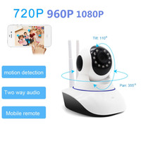 Wholesale home cctv system monitor - 720P 960P 1080P Home Security camera system wireless Network Surveillance Wifi Night Vision IP CCTV Camera indoor baby Monitor