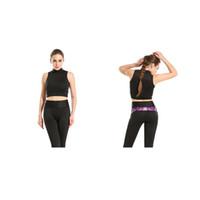 color negro chalecos chicas al por mayor-Sujetador deportivo para niñas Gráfico negro Impresión completa Yoga Gimnasio Corredor para correr Correr Sportwear Sujetadores digitales Empujar hacia arriba Crop Tops Tank Vest (RLSsb-0121)