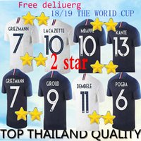 Wholesale best new homes - New 2 star the best Thai version quality, 2018 World Cup home away football jersey 2018 GIROUD GRIEZMANN MBAPPE MATUIDI PAYET footb