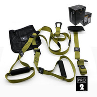 ремни сопротивления оптовых-1 Set Resistance Bands Include Box Hanging Belt Sport Gym Workout Fitness Suspension Exercise Pull Rope Straps Training Band