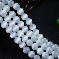 wholesale 30pcs 100pcs Acrylic Cat/'s Eye Charm Round Loose bead Spacer Beads 8mm