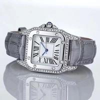 Wholesale Purple Diamond Bracelet - Fashion Luxury Women Leather Watch With full Diamond Quartz rose gold silver Dress Watch Bracelet special style Lady Brand Wristatch