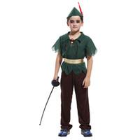 настоящий красный павлин оптовых-Пурим костюм для детей Питер Пэн костюмы мальчики девочки дети карнавал необычные платья карнавал косплей для Хэллоуин событие