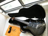 am besten verkaufte e-gitarren großhandel-Kostenloser Versand Neu! meistverkaufte schwarz grau Gitarre Musikinstrumente E-Gitarre versandkostenfrei mit Fall