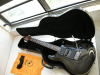 Wholesale musical instruments sold for sale - Group buy New best selling black gray Guitar Musical Instruments Electric Guitar WITH CASE